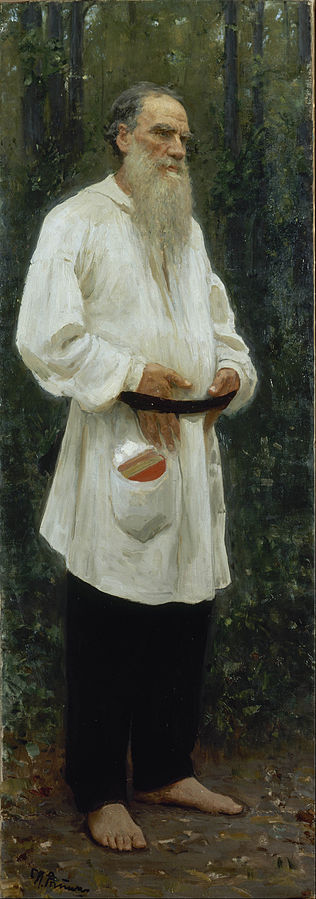 Tolstoy_Barefoot painting